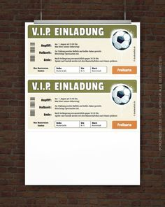 Kostenloses VIP Fussball-Ticket zum Selbstausdrucken #Geschenkidee #EM2016