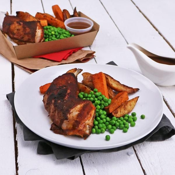 YouFoodz | Red Foodzter $9.95 | It's your favourite tender roast chicken, mixed with a little white and sweet potato chip combo, with a side of peas and gravy for good measure | #Youfoodz #HomeDelivery #YoullNeverEatFrozenAgain