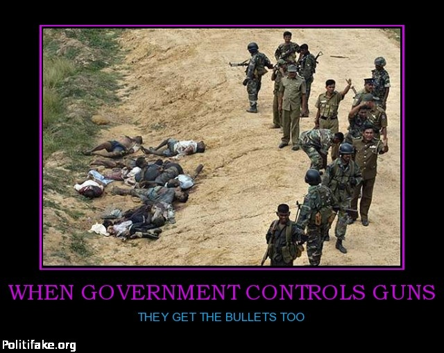 Gun control as a violation of the rights of citizens to protect themselves against criminals