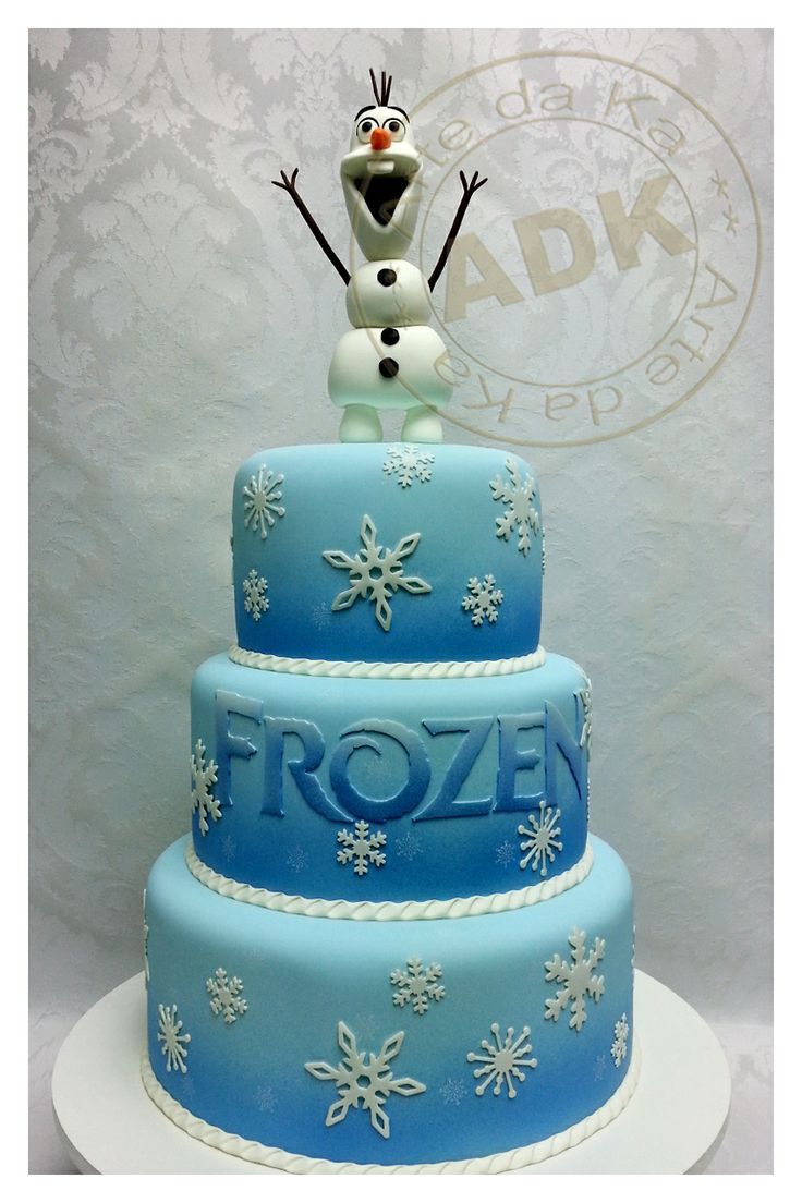 Frozen Themed Cake-Ava said this is a maybe but definitely with Elsa instead of Olaf