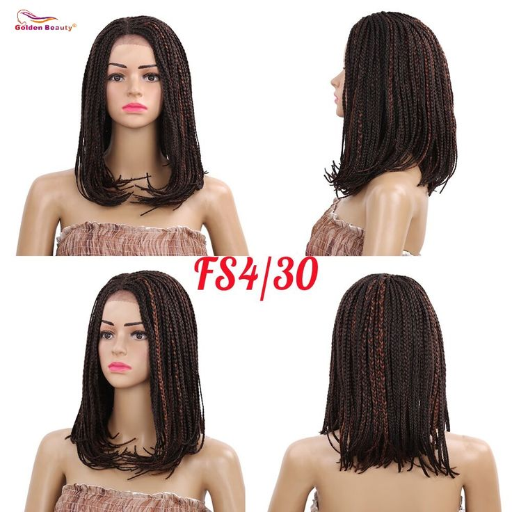 Long Bob Lace Front Wig with Baby Hair Synthetic African American Braided Wigs