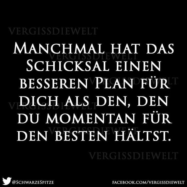 Manchmal hat das #Schicksal einen besseren #Plan für dich...