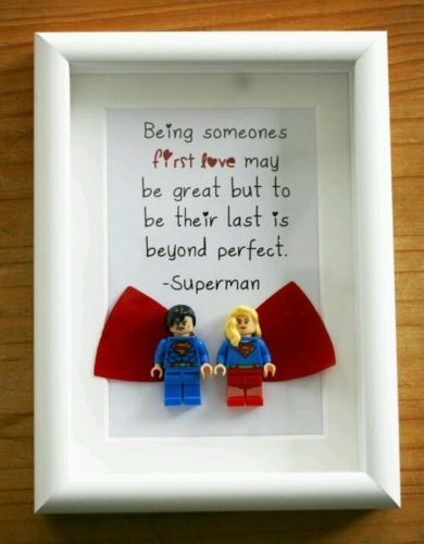 Superman-and-superwoman-Lego-Picture-frame-custom-gift-romantic-quote-present