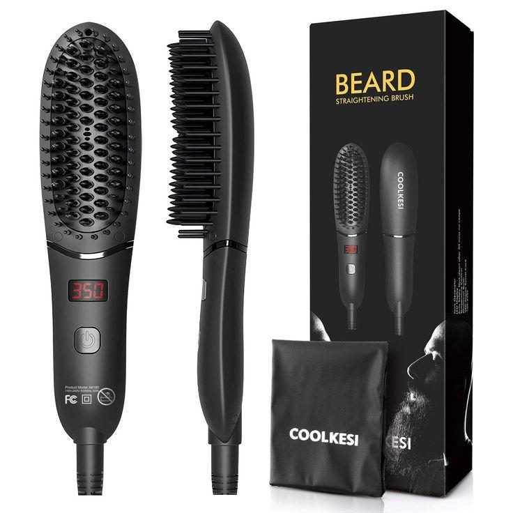 Coolkesi ionic beard straightener for men antiscald hair