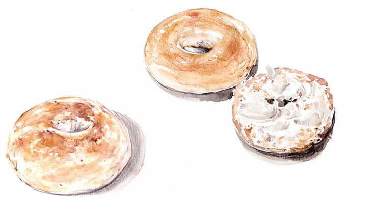 Lindsay | How Jews Resisted a Baking Ban; the History of the Bagel | Artwork by Evie Cahir for Lindsay