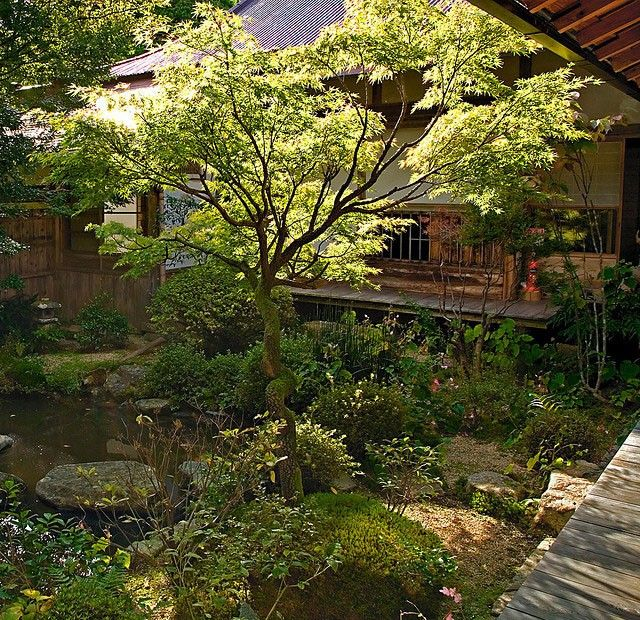 Japanese Inspired Garden In Grant Park: Japanese Garden Viewing Porch Images On