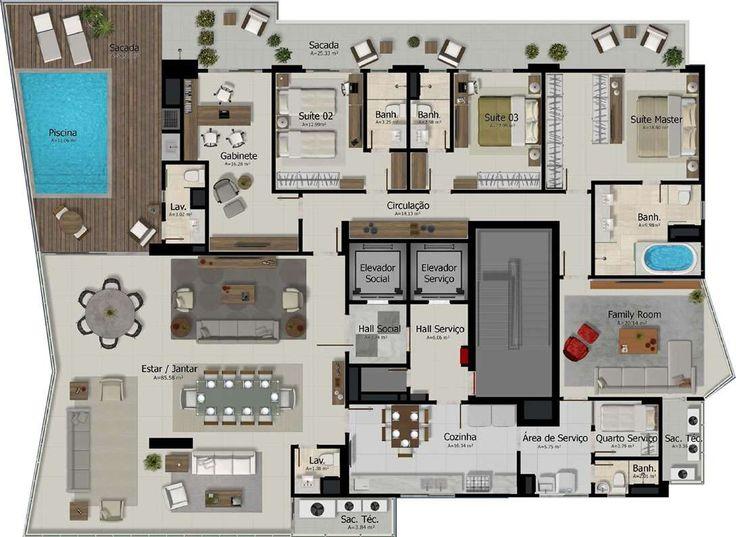 104 best House images on Pinterest Floor plans, Home ideas and - plan maison plain pied 80m2