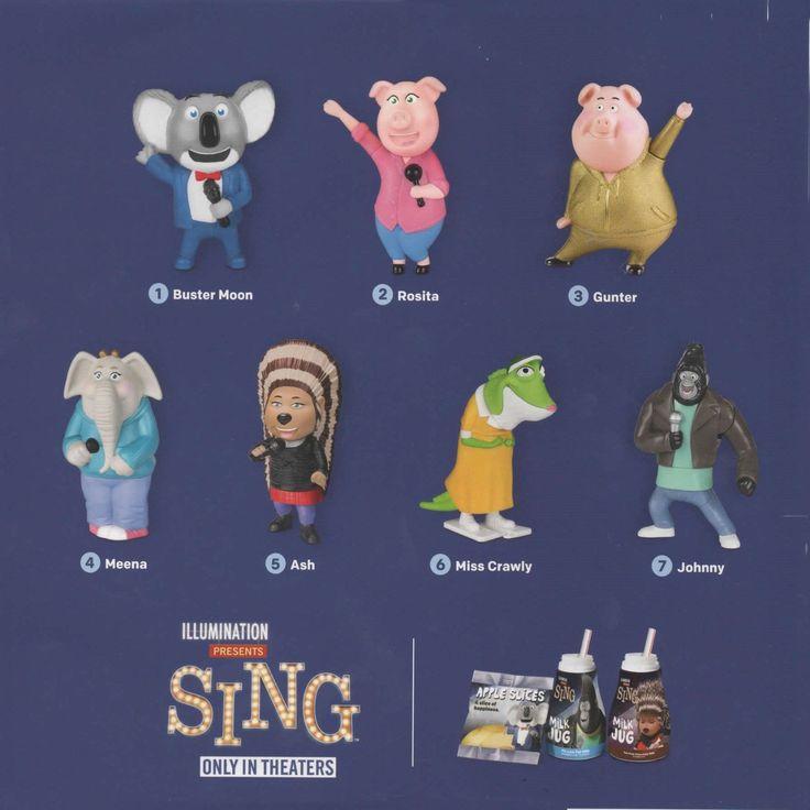 2016 McDonald's Universal Studios Illumination SING Drop Down Menu Select MIP   eBay