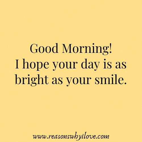 Romantic good morning text for him