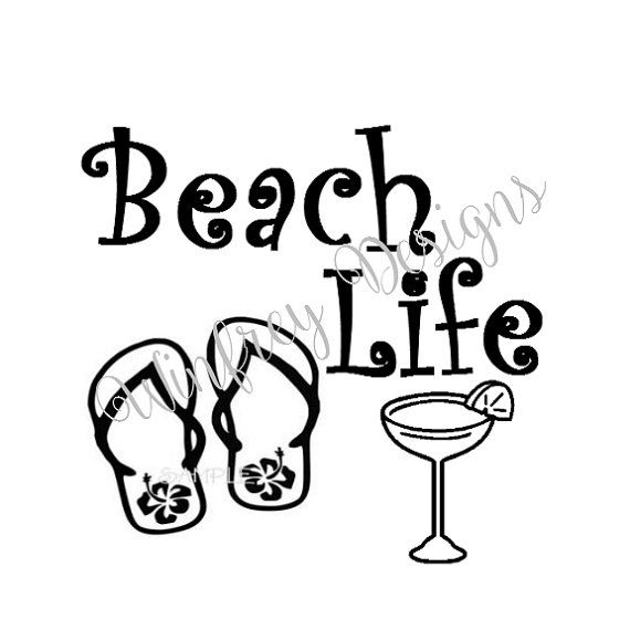 Car Decal Beach Life Car Sticker Vinyl Decal Laptop