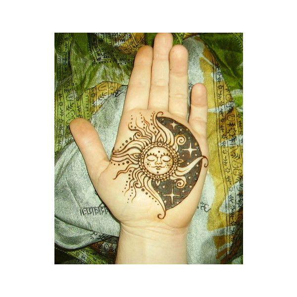 Sun/Moon Tattoo found on Polyvore
