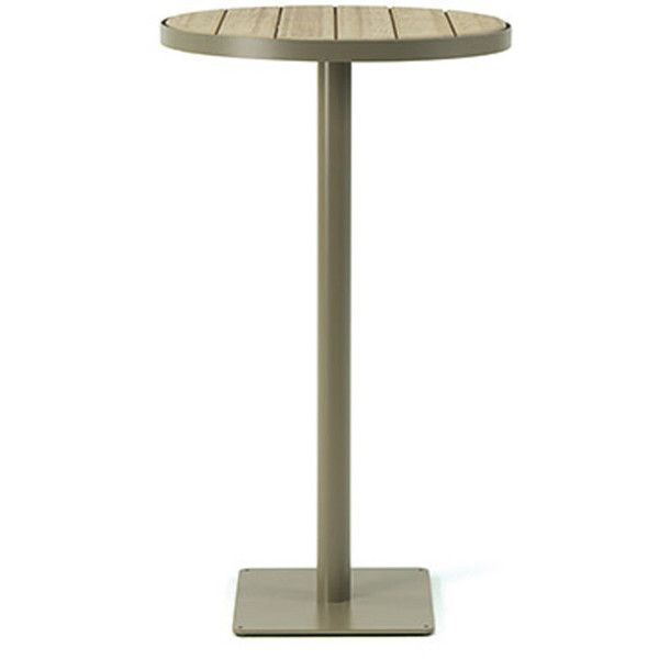 Ethimo Laren High Round Bar Table Pickled Teak Mud Grey 440 Liked