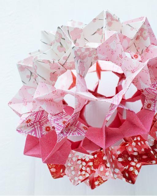 Origami Sphere DIY instructions ... Video tutorial here: http://www.youtube.com/watch?v=M3MEZunaypg=youtu.be