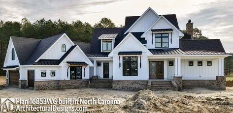 Modern Farmhouse Plan 16853WG comes to life in North Carolina - photo 001