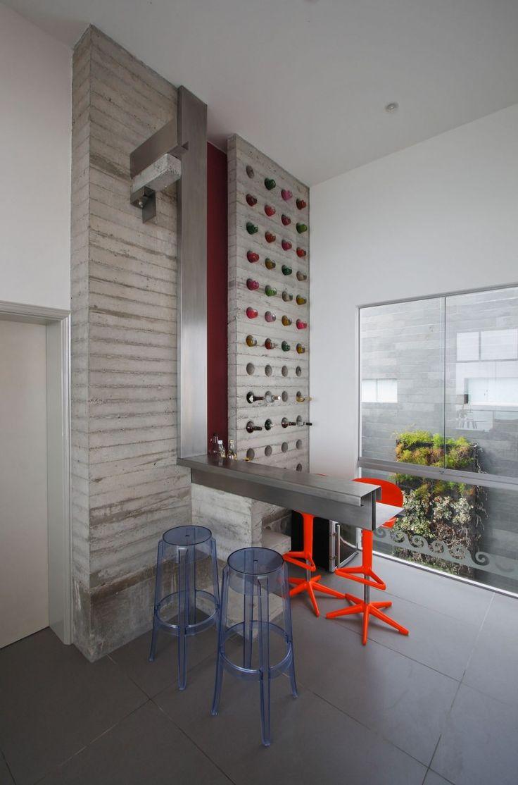 Cozy Alvarez Beach House Design Interior with Minimalist Contemporary Furniture Design with Unique Wine Cellar Decoration Ideas,