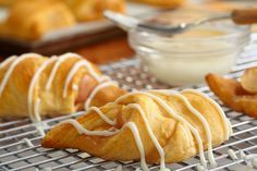Enjoy the flavors of fall with Caramel Apple-Crescent 'Dumplings.' These apple-crescent 'dumplings' are a great way to use apples this season.