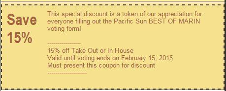 VOTE Pacific Sun BEST of Marin