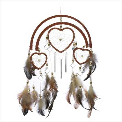 Heart dream catcher.