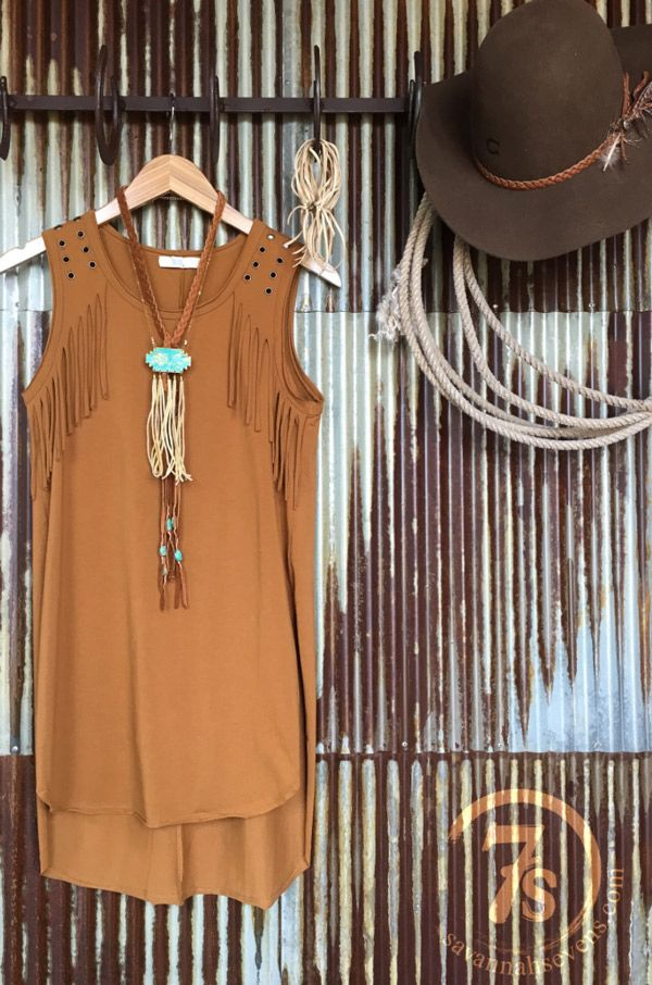 The Westerner Tunic from Savannah Stevens makes a great layering piece.
