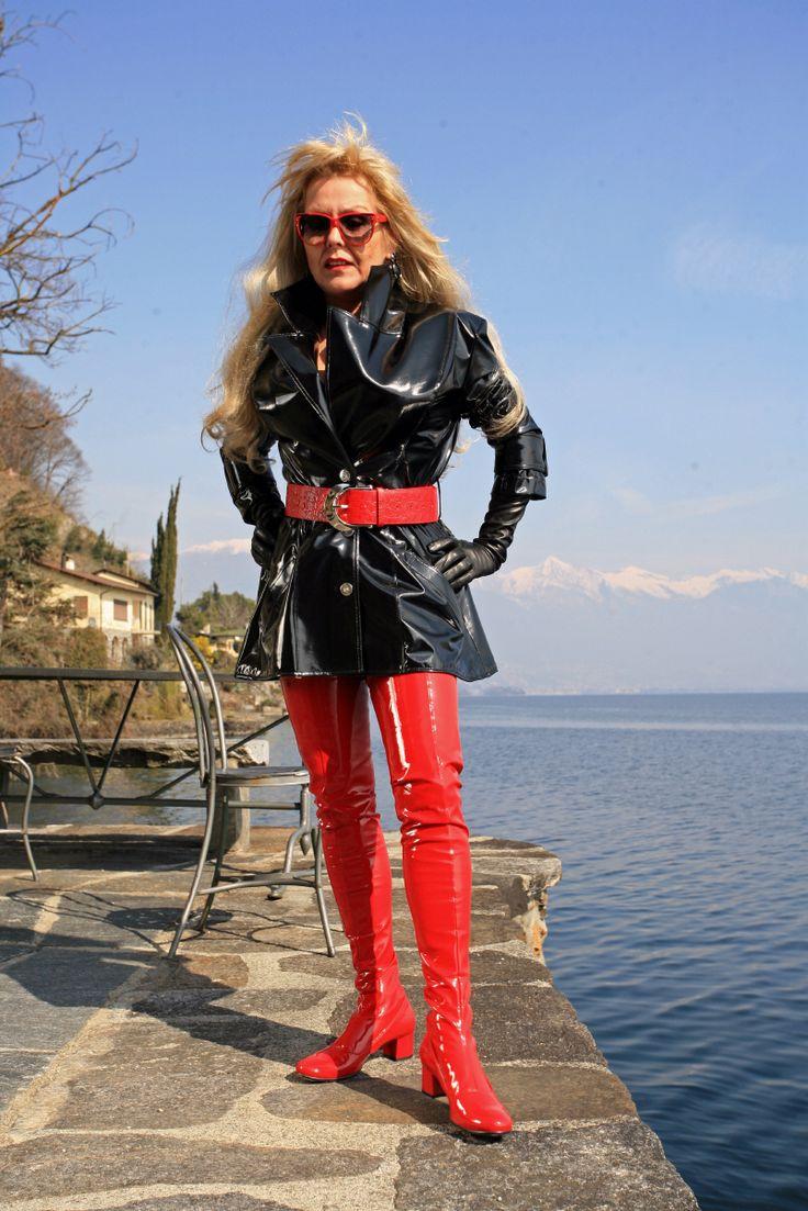 redboots porn Eigene Kollektion - MICELI - Made in Italy Material: Stretchlack rot -  Fußteil Echtleder Absatz