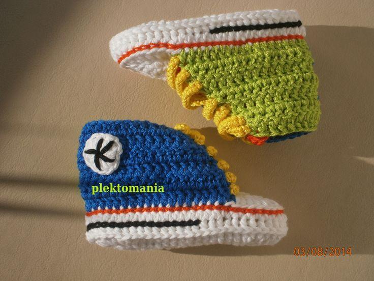 https://www.facebook.com/plektomania25 crochet baby shoes