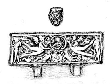 Fontana del colosseo Disegno di Margot Schera (per il mio libro Fontane di Roma)
