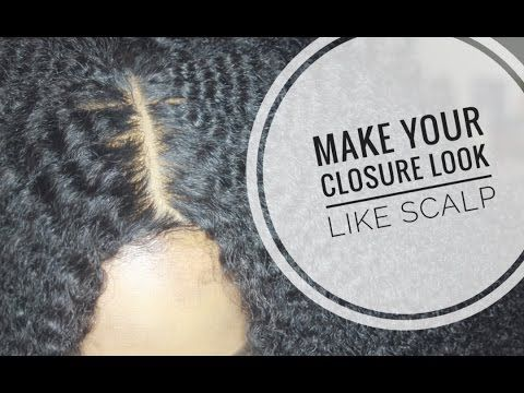 Make Your Closure Look Like Scalp!! | Hide The Grids In Your Lace Closure [Video] - https://blackhairinformation.com/video-gallery/make-closure-look-like-scalp-hide-grids-lace-closure-video/