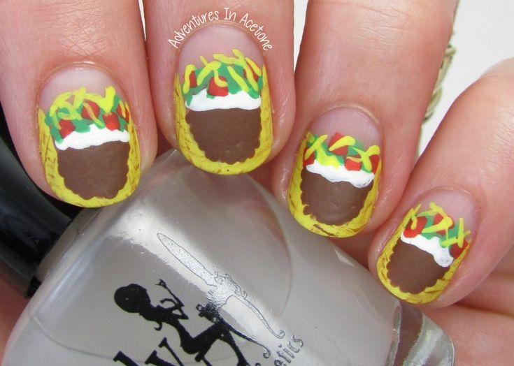Taco Nail Art 1