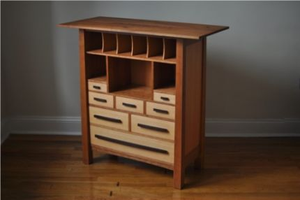 Geremy Coy, Tea Cabinet, 2011. Cubbies for teapot and cups; drawers ...