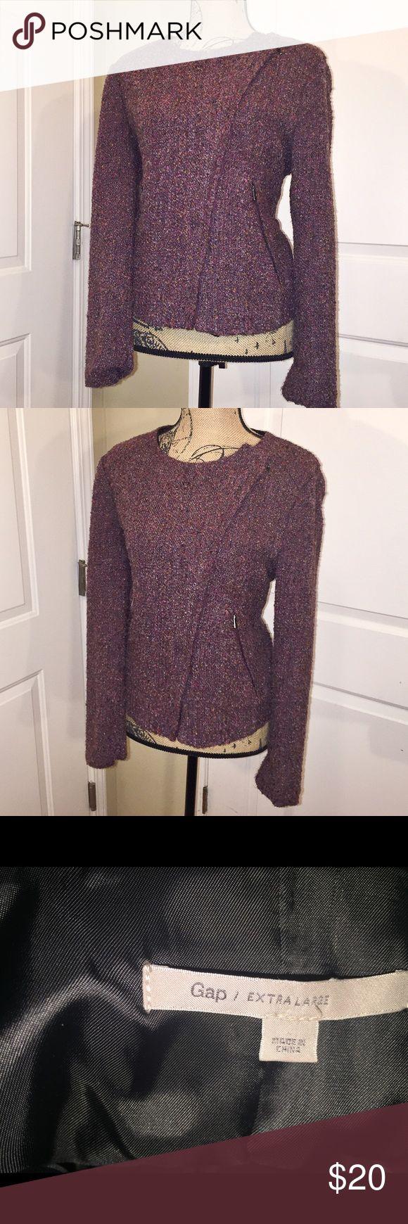 Gap coat Asymmetrical zip up coat. Fitted moto style coat. GAP Jackets & Coats