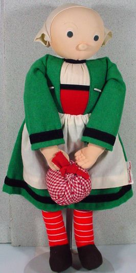 Wonderful Vintage French Becassine Cloth Doll!**