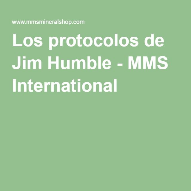 Los protocolos de Jim Humble - MMS International