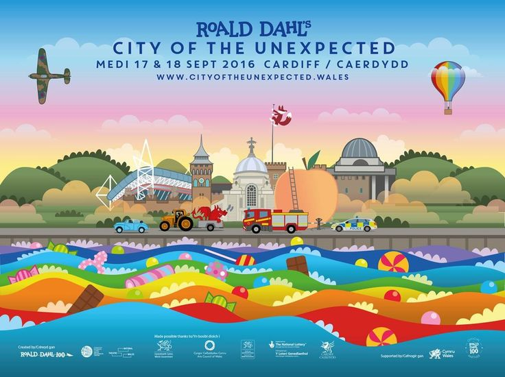 Image result for roald dahl cardiff city of the unexpected