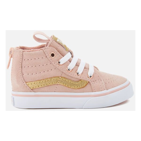 Vans Toddlers' Sk8-Hi Zip Mte Hi-Top Trainers (16.570 HUF) ❤ liked on Polyvore featuring shoes, sneakers, pink, vans shoes, lace up shoes, high top shoes, vans trainers and lace up high top sneakers