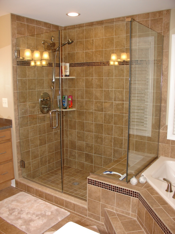 117 best frameless glass shower doors images on pinterest for Master bathroom glass doors