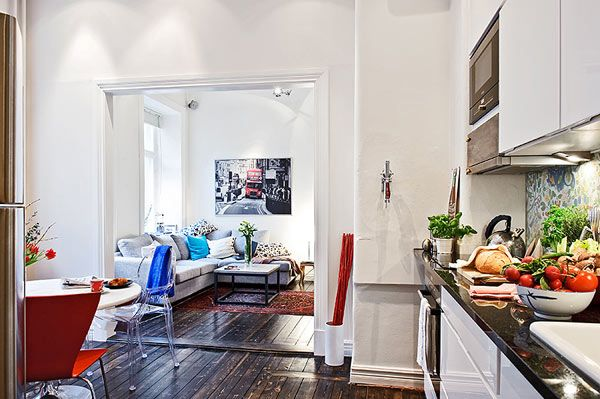 A small apartment that looks large because it's well-designed. (Plenty of pics at the source link.)