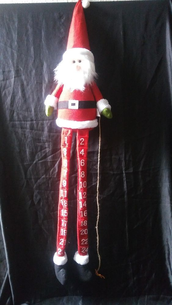 Hanging Plush Toy Santa Advent Calendar Countdown to Christmas  #adventcalendar  #santa #christmas #christmasdecor