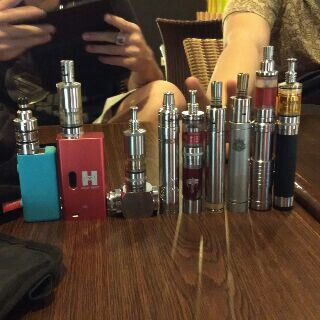 Gathering with the vapor gang