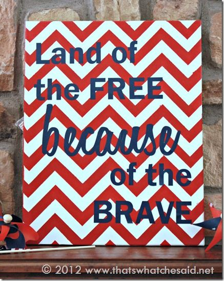 Patriotic Chevron Art
