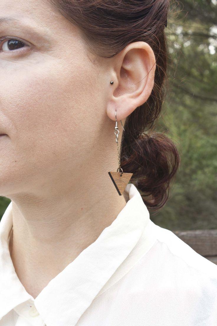 Rimu triangle drop earrings - $35