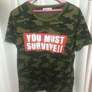 WEGO(ウィゴー)のWEGO 迷彩柄Tシャツ レディースのトップス(Tシャツ(半袖/袖なし))の商品写真