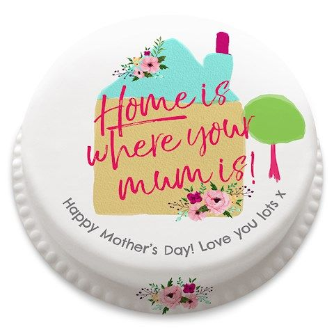 Home is where your mum is? Well, they certainly do hold that special place in our hearts. Why not share your personalised message with this delicious cake. Buy online at Bakerdays.com.
