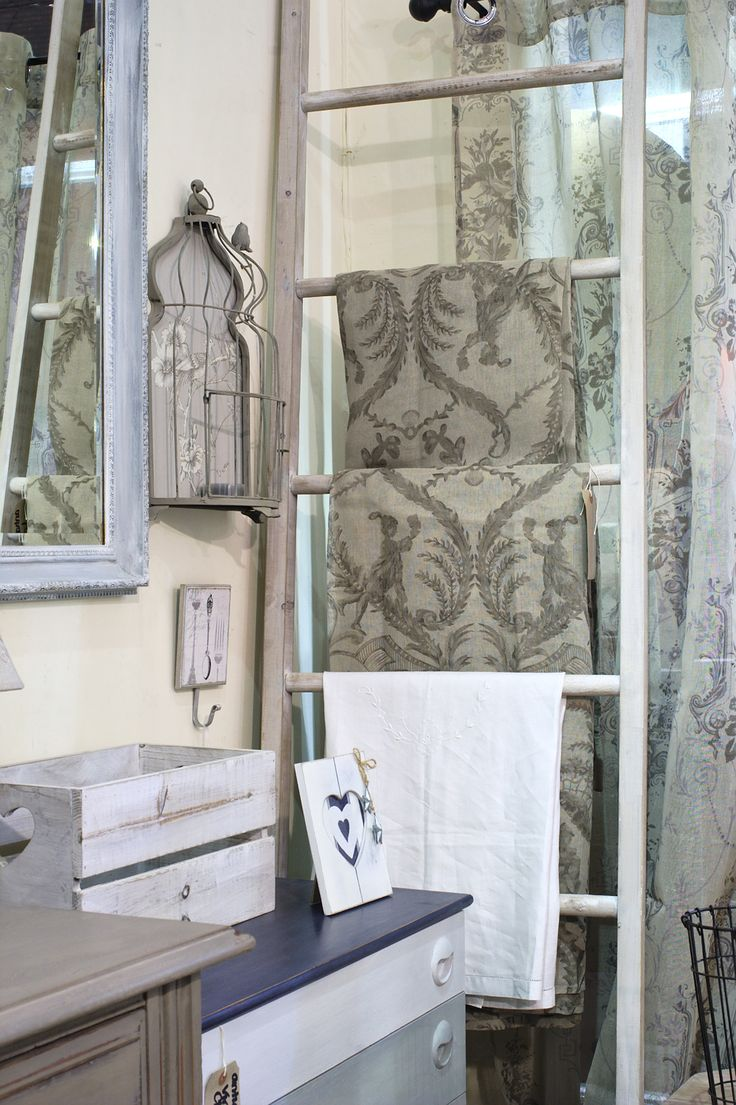 Beautiful Biggie Best curtain panels. I actually sold the ones on the ladder before I could put a price on them but if you love them as much as I do, don't despair as I can order more!