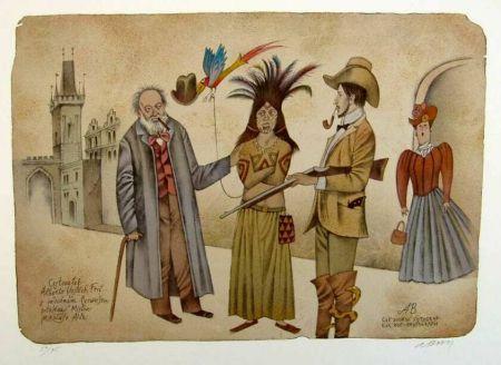 Adolf-Born-prodej-litografie-Cestovatel-Alberto-Vojtěch-Frič-s-indiánem-Čerwuišem-2000-38-x-535-cm....jpg (450×328)