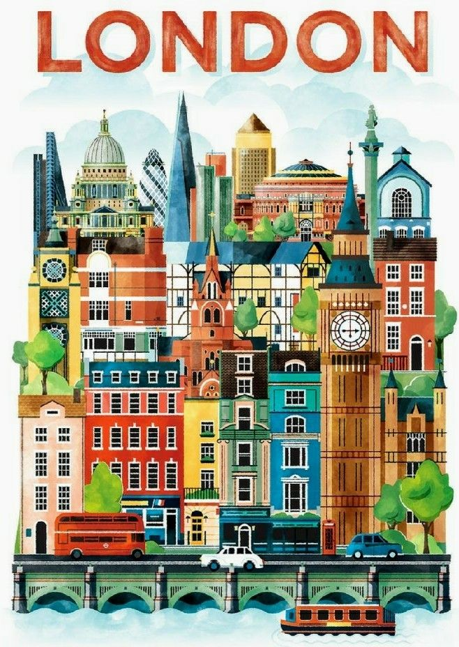 London travel poster.