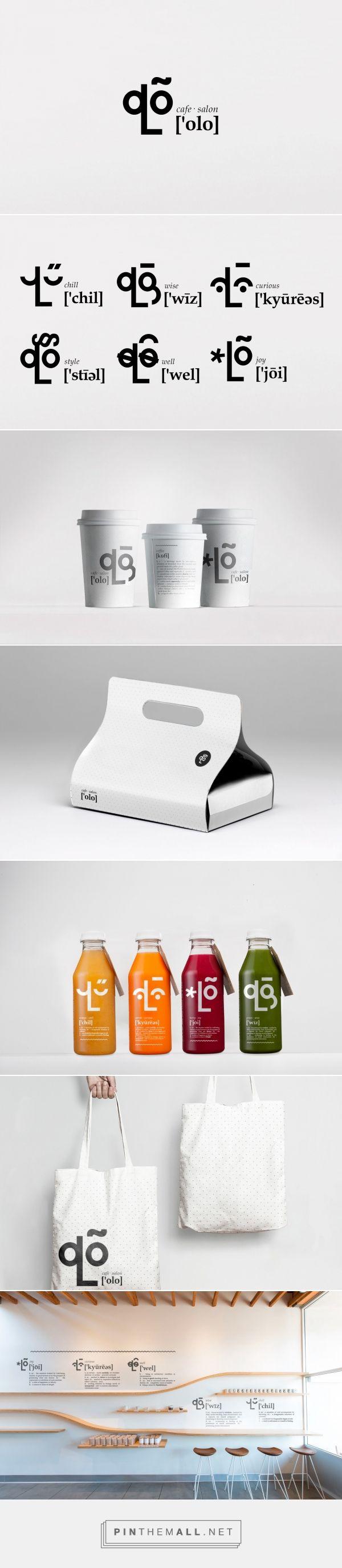 Olo cafe packaging & branding by Steve Solodkov - http://www.packagingoftheworld.com/2017/05/olo.html