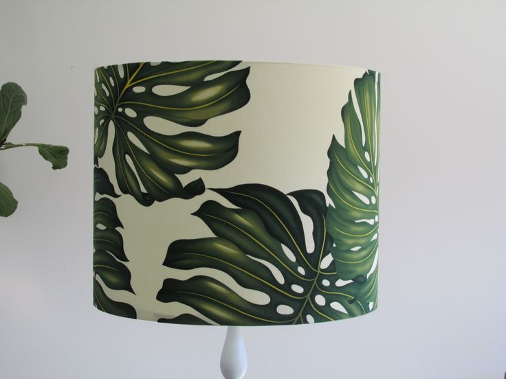 """""""Monstera"""" or """"Fruit Salad Plant"""" Lampshade. Yay for tropical interiors!"""
