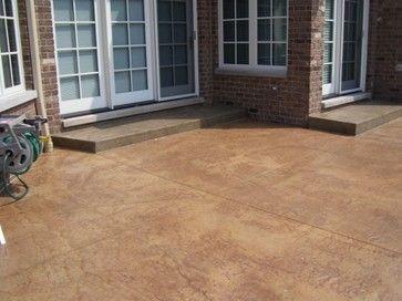 Stamped Concrete Patio   LastiSeal Concrete Stain U0026 Sealer Modern Patio.  Desert Sand / Walnut