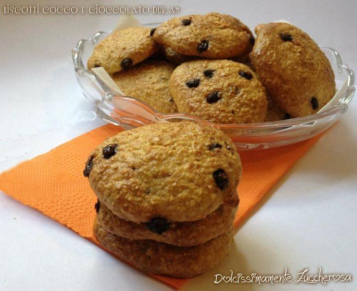 Biscotti cocco e cioccolato Dukan ricetta light | Dolcissimamente Zuccherosa