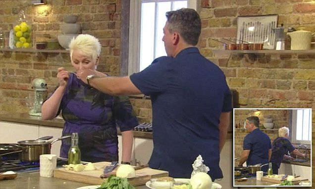 Saturday Kitchen host John Torode berates chef for 'double dipping'